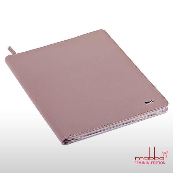 -MRS. RIGHT- Organizer DIN A5 Leder nude mit iPad Fach