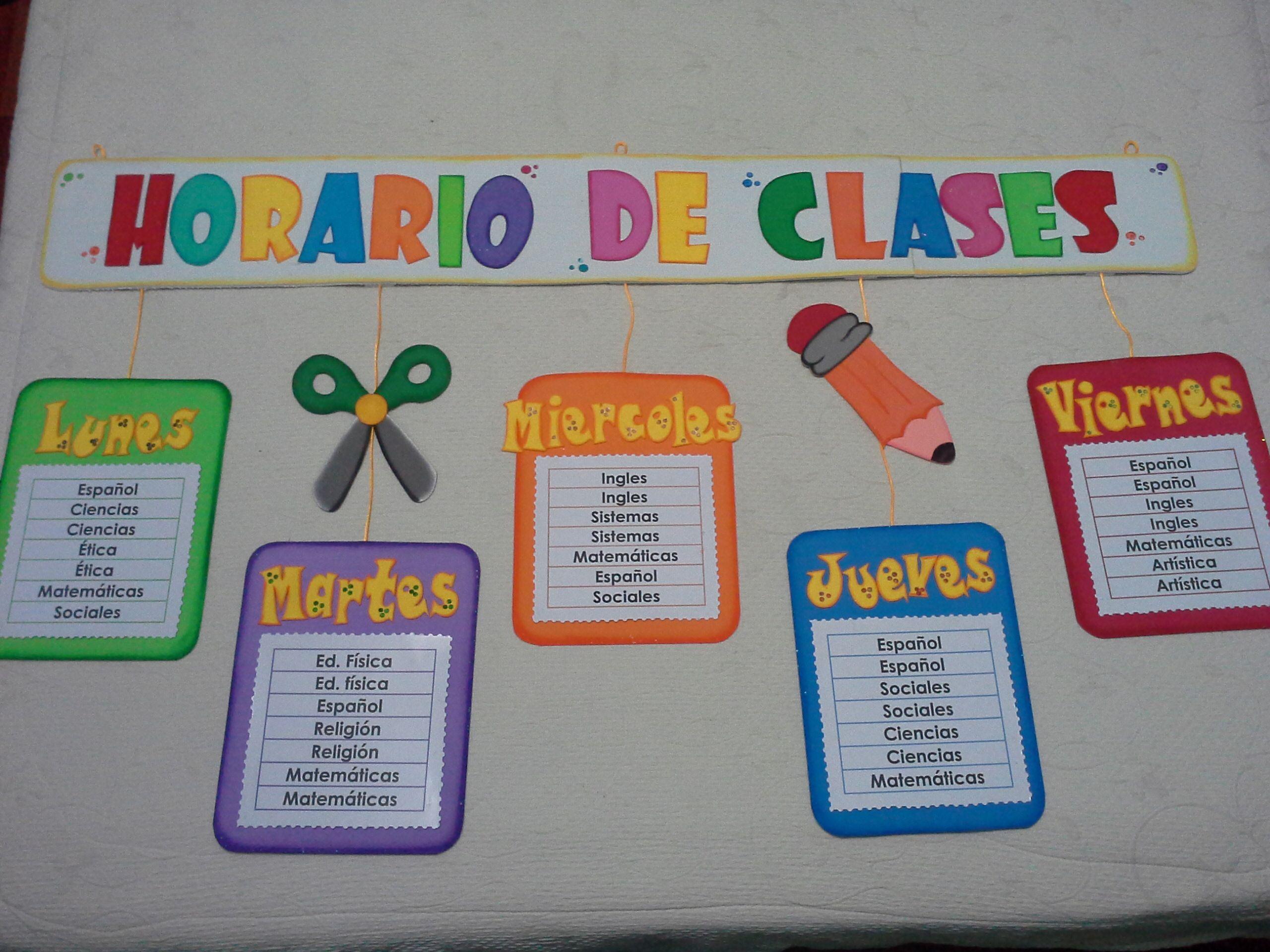 Imagenes De Horarios De Clases Decorados Para Imprimir