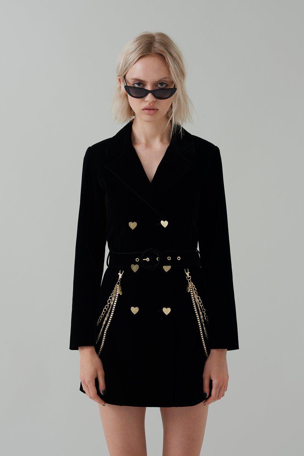 8082dc07b29c3 G.E.M Velvet Blazer Dress | korean beauty | Blazer dress, Velvet ...