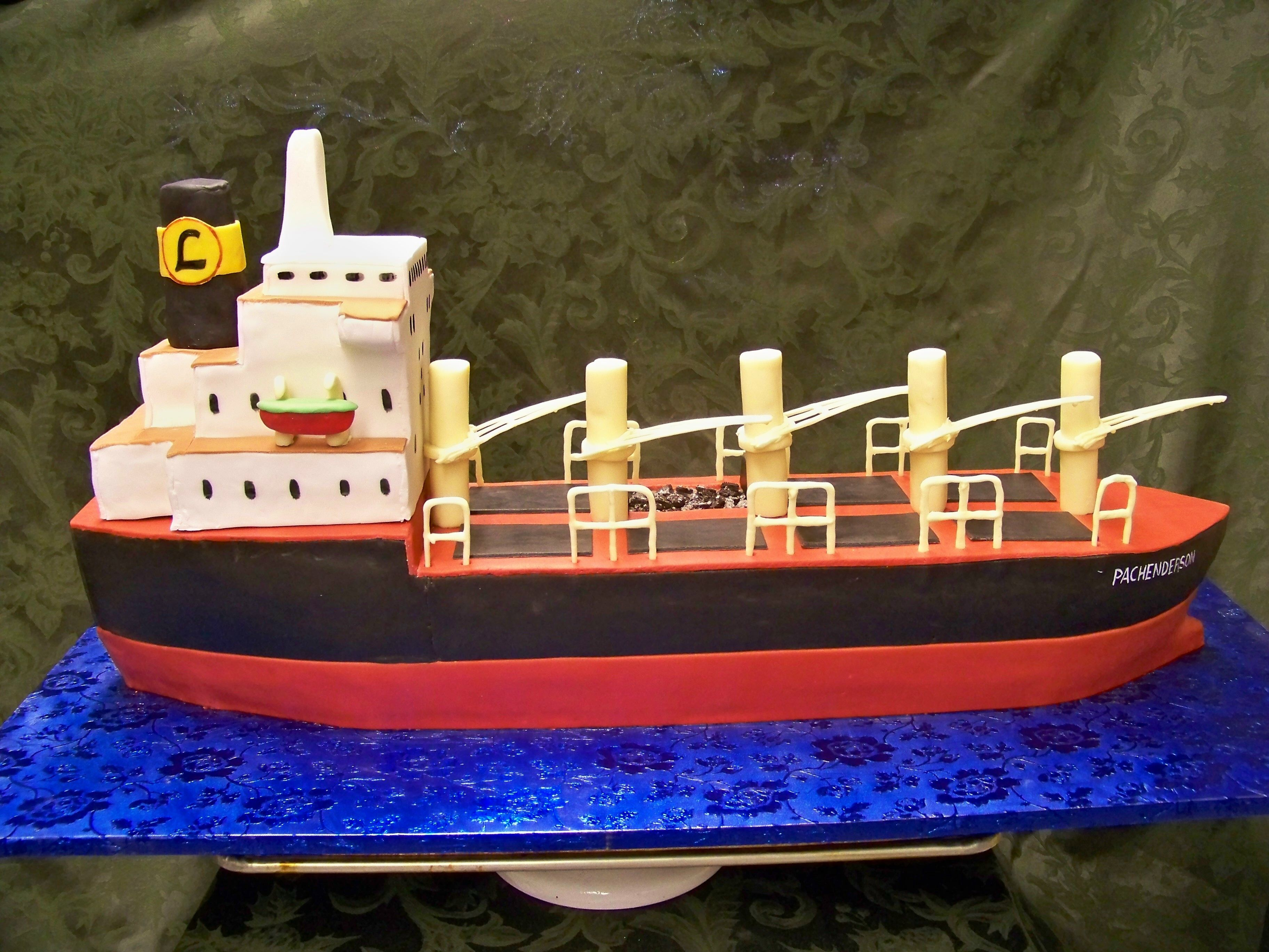 Tremendous Cargo Ship Cake With Images Cake Designs For Boy Eat Cake Funny Birthday Cards Online Inifofree Goldxyz