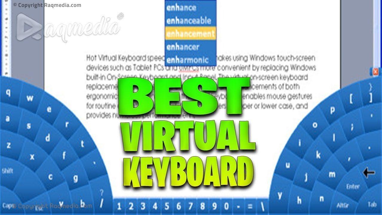 Best Virtual Keyboard For Windows Keyboard, Multi touch