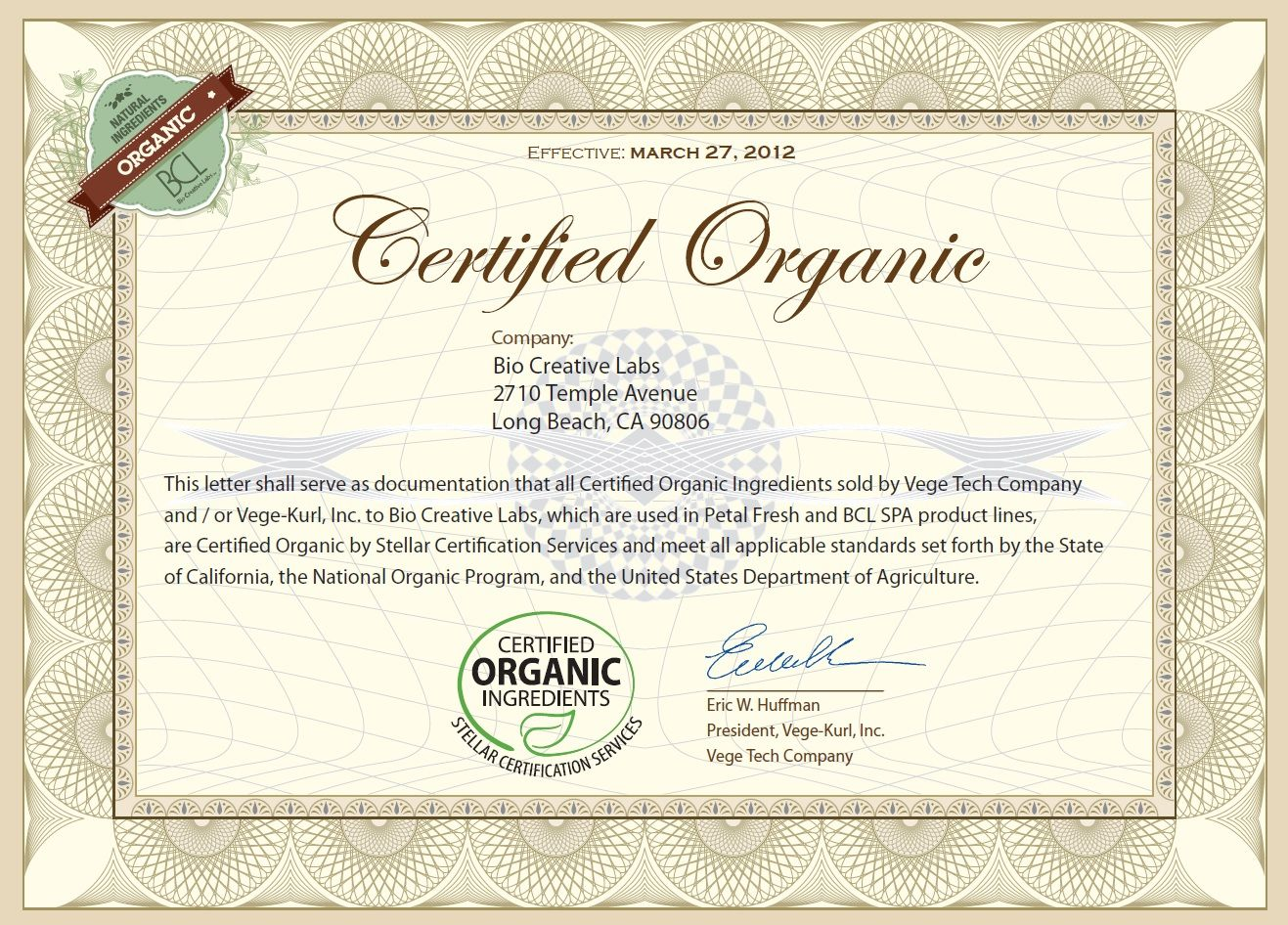 Bcl spa products are using certified organic ingredients certified bcl spa products are using certified organic ingredients certified by stellar certification services accredited by xflitez Gallery