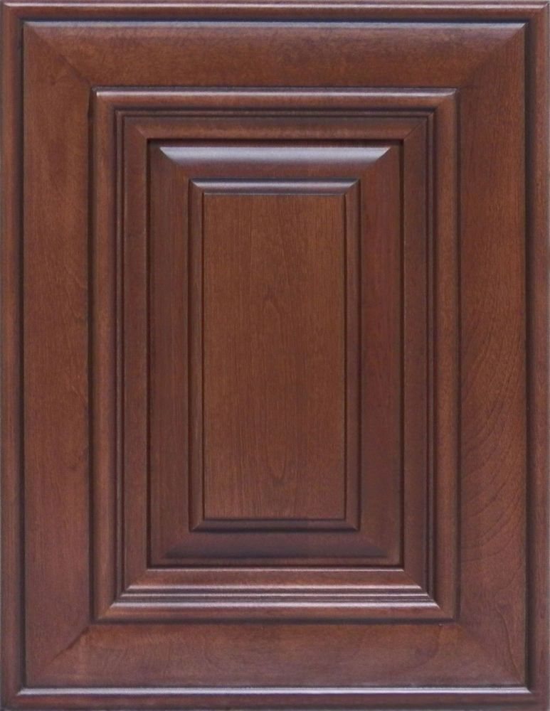 Details About Saddle Maple Kitchen Cabinets Sample Door Rta All