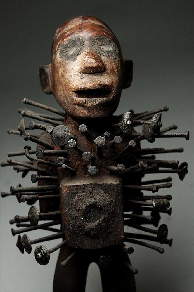 Bakongo, nail, fetish, yombe, vili, kongo, african art ...