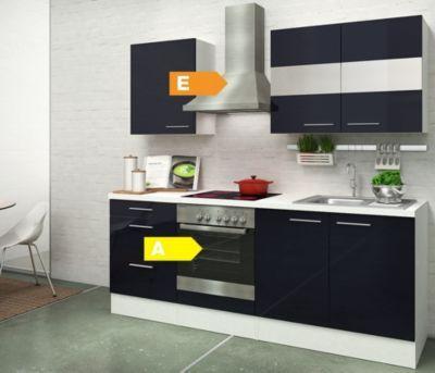 Respekta Premium Küchenzeile RP210WSC 210 cm Weiß - Schwarz Jetzt - küchenblock 260 cm