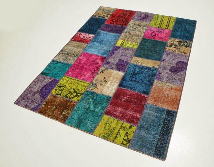 Serendipitylands diy home alfombras patchwork patchwork - Alfombra patchwork ...