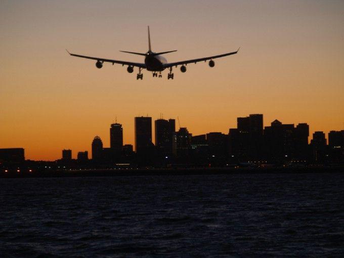 landing at Logan