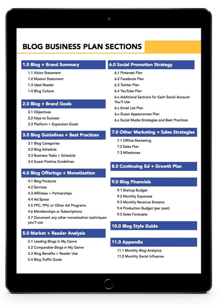 How to Write a Blog Business Plan (the guide for champions