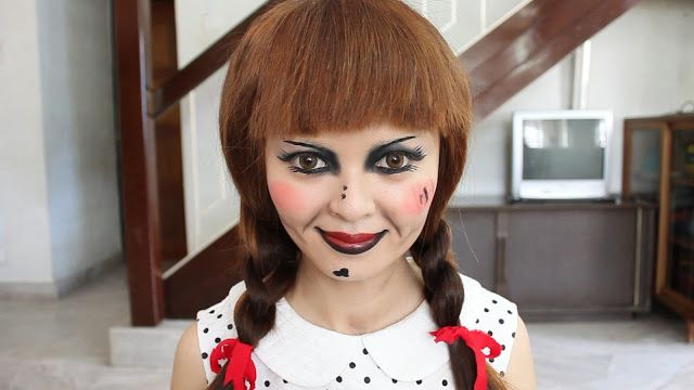 From the Conjuring, the Annabelle Doll  Halloween Makeup Tutorial