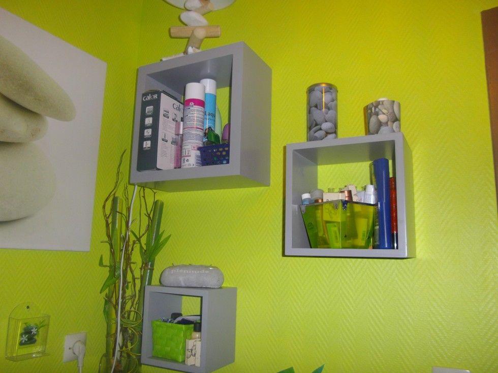 Salle de bain verte | salle de bain | Pinterest | Salles de bains ...