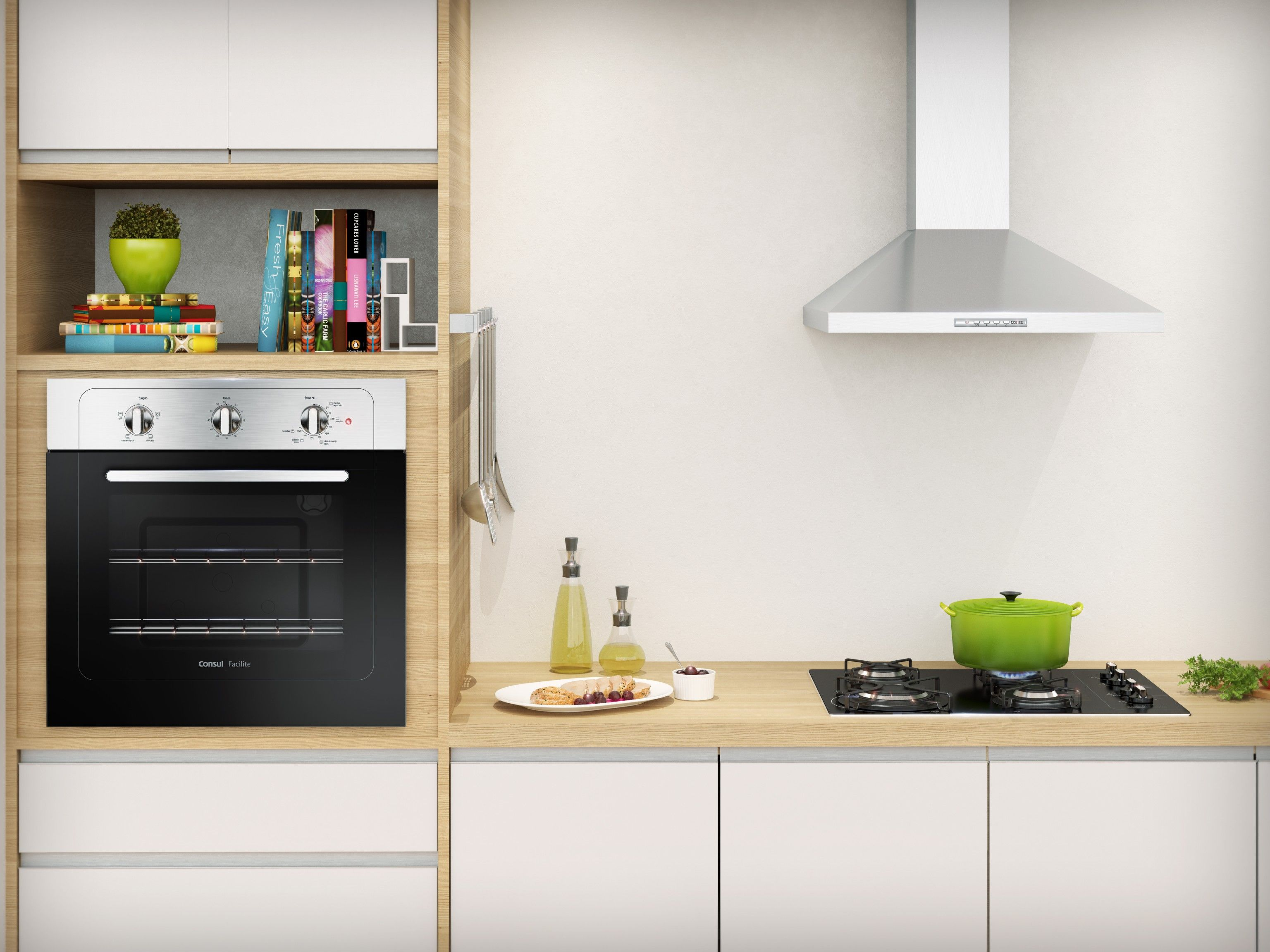 Cozinha Completa Consul Cooktop Coifa E Forno De Embutir Sua Casa