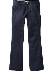 Girls Stretch-Khaki Uniform Pants