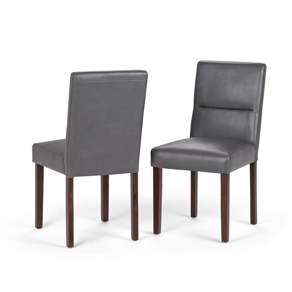Simpli Home Ashford Contemporary Parson Dining Chair Set Of 2 In