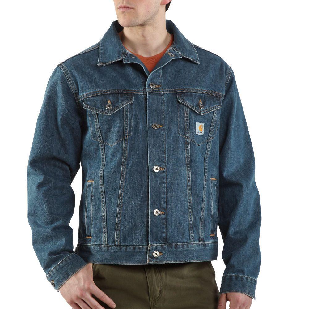 Jeans Jacket Carhartt J291 Denim Jean Jacket Authentic Blue In 2020 Denim Jeans Men Denim Jacket Men Denim Jacket [ 999 x 1000 Pixel ]