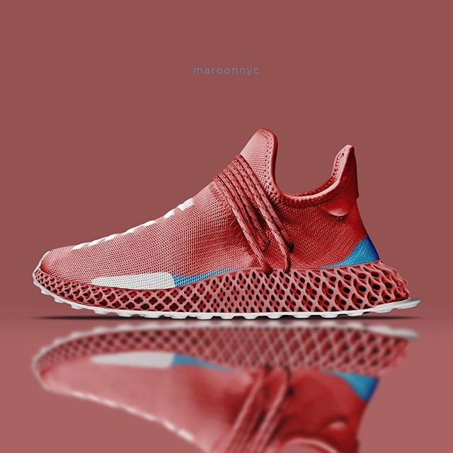 official photos a591b 5c471 2019 的 Adidas Human Race Future Craft - Coral Red ...