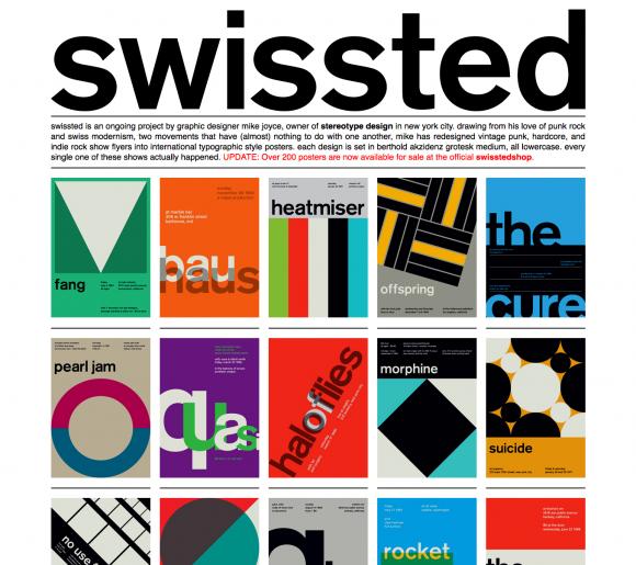 Swissted Swiss Style Website Design Swiss Style Modernist Typography