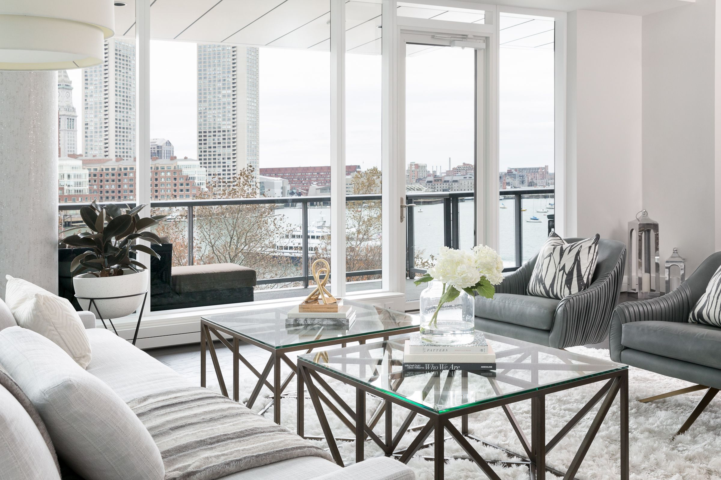 Living Room Design from our Twenty Two Liberty Project | Boston Ma ...