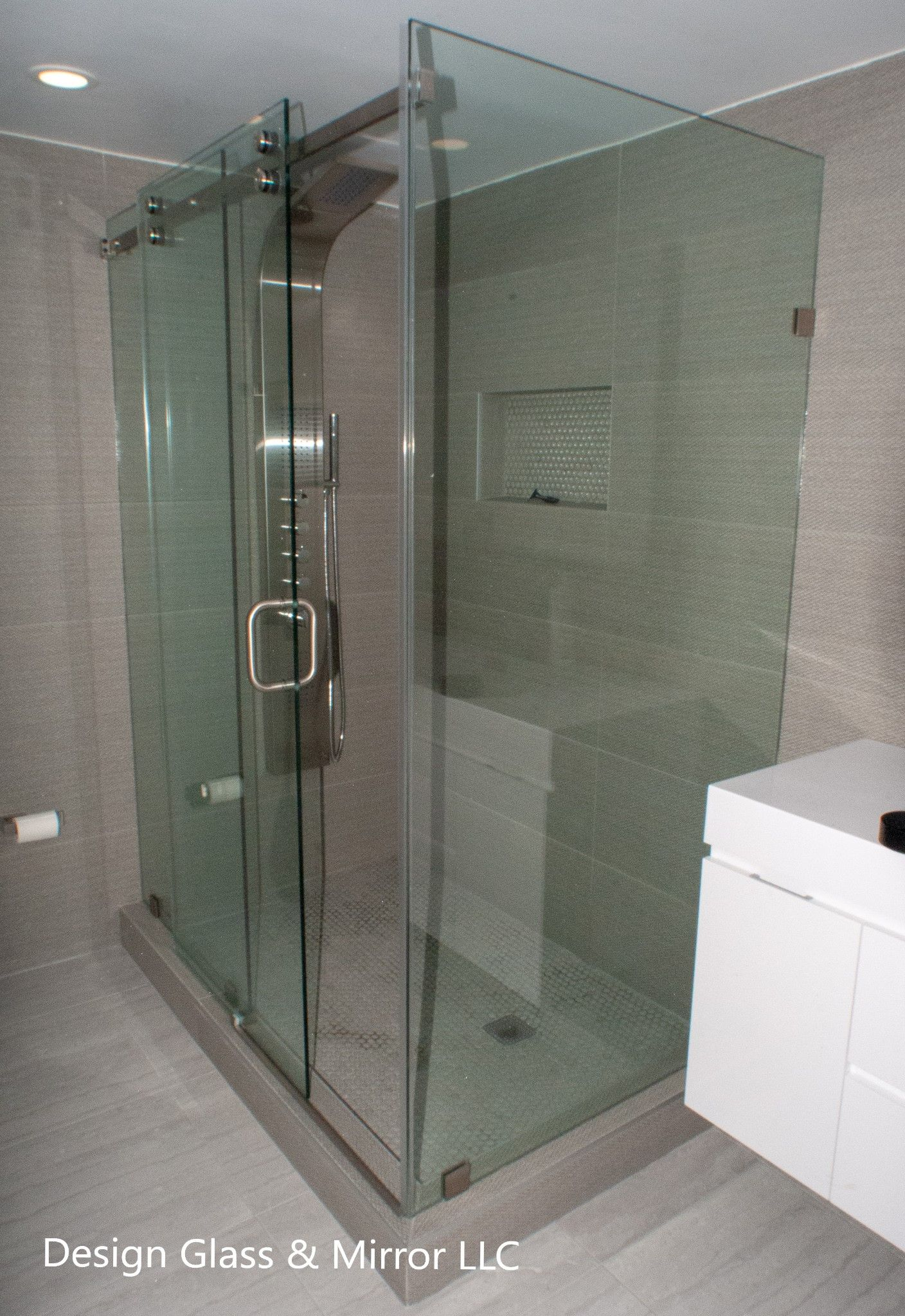 90 Degree Shower Enclosure With Sliding Door And Clips 90 Degree
