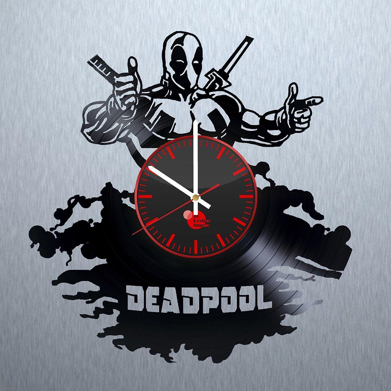 Deadpool Wanduhr - hergestellt aus einer Schallplatte | Cooles ...