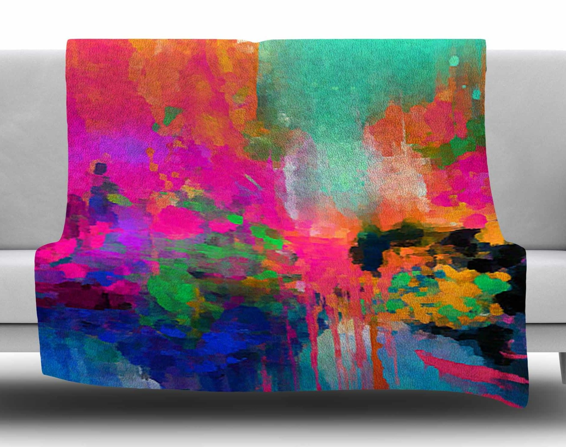 Montesilvano-Abstract by Oriana Cordero Fleece Blanket