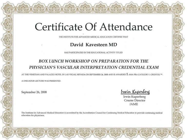 5 Certificate Of Attendance Templates With Images Certificate