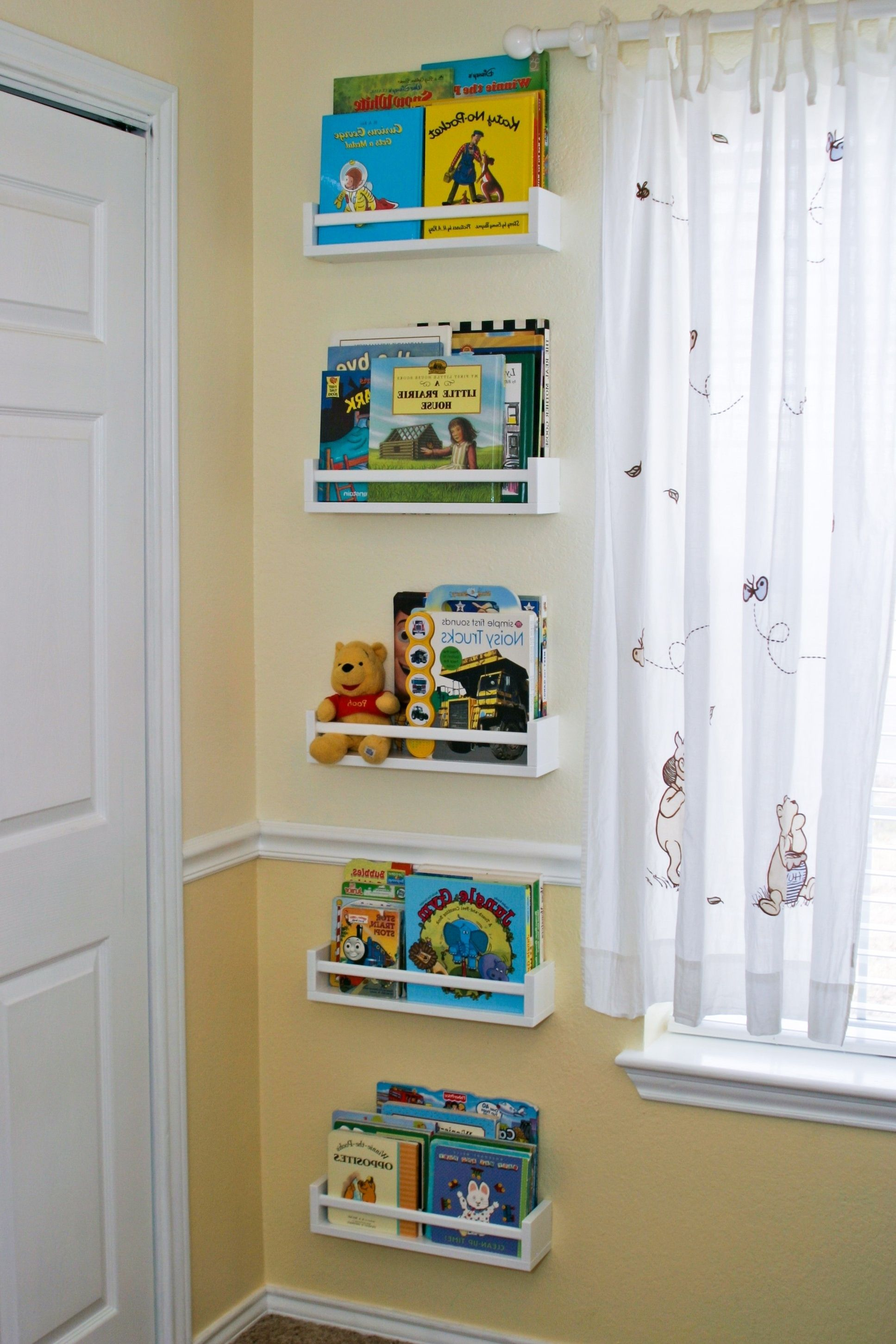 Hallway storage next  small room decoration with white wood kids corner regarding living