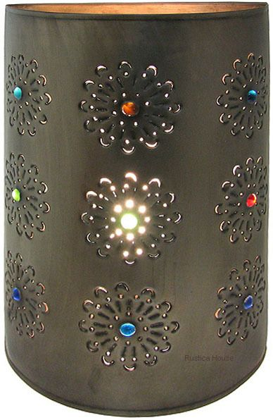 Tin wall lamp g092 tin walls haciendas and iron punched tin lamp shade mozeypictures Images