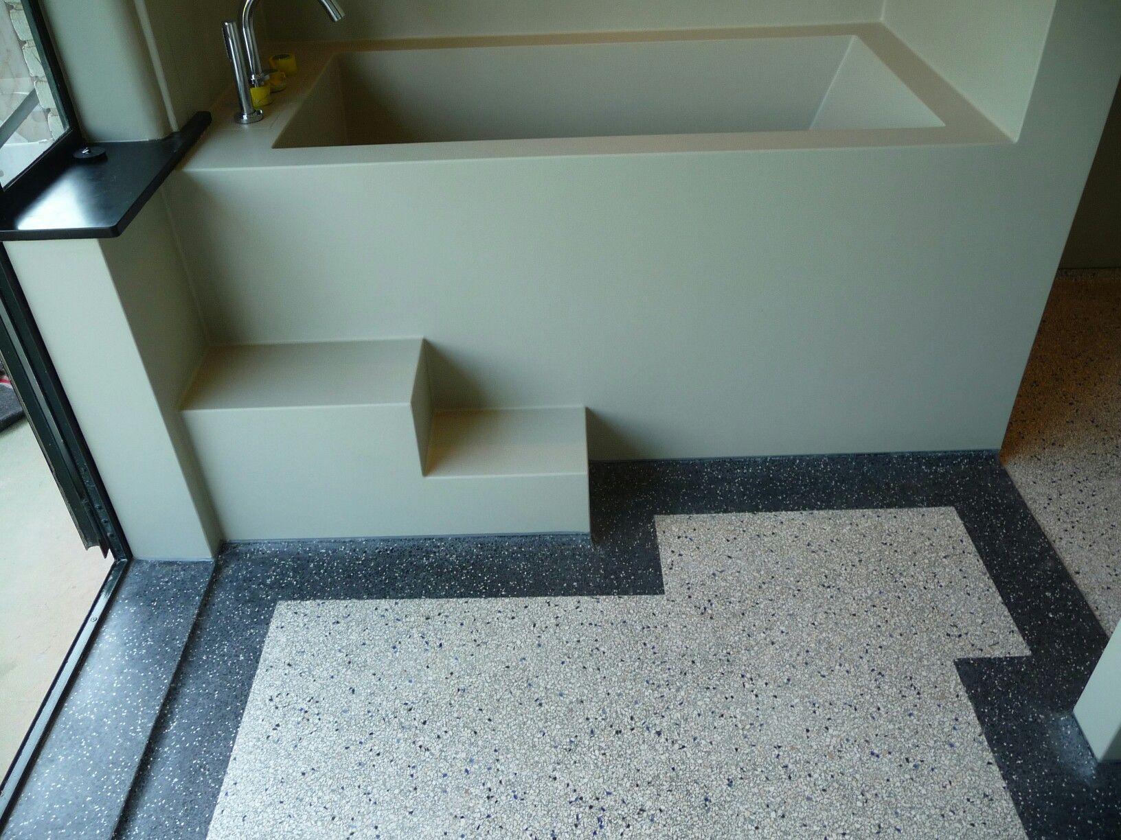 Naadloze Vloer Badkamer : Naadloze badkamer met terrazo vloer westzeedijk rotterdam