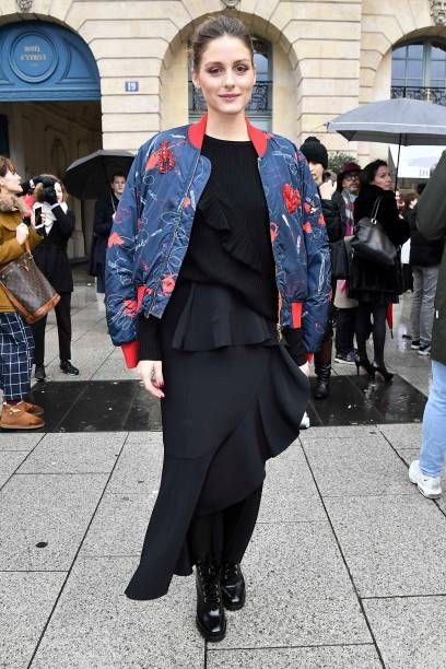 Olivia Palermo is seen arriving at Schiaparelli Fashion show during     Olivia Palermo is seen arriving at Schiaparelli Fashion show during Paris Fashion  Week Menswear Fall Winter 2018 2019 on January 22 2018 in Paris