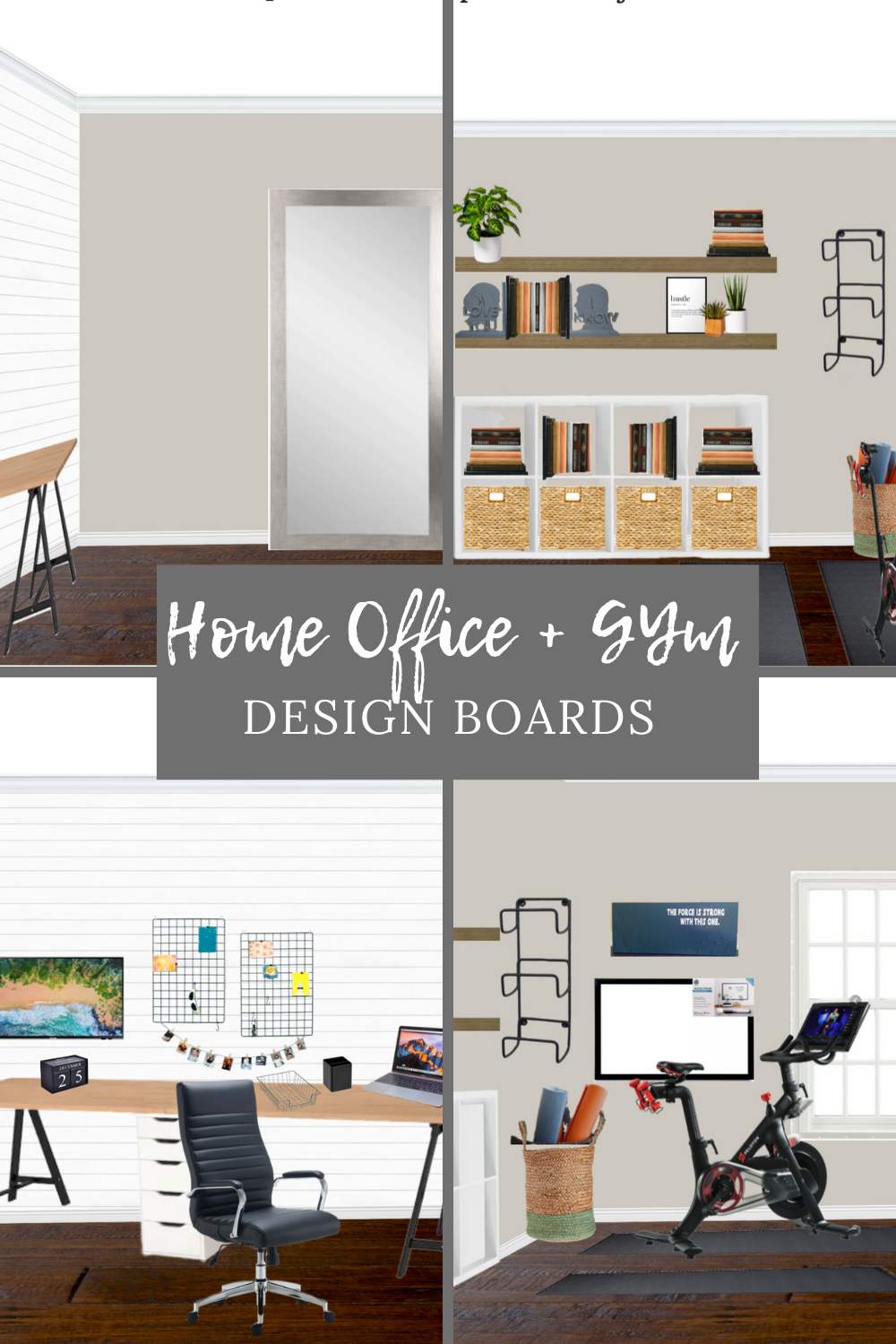 Neutral Home Office Gym Design Home Office And Gym Gym Room At Home Workout Room Home