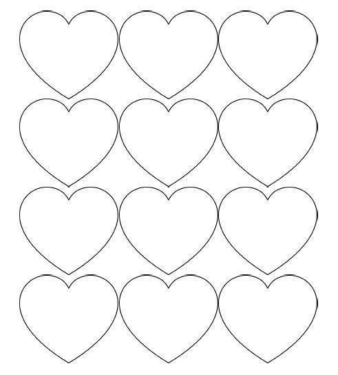 free printable heart templates – large, medium & small stencils, Ideas