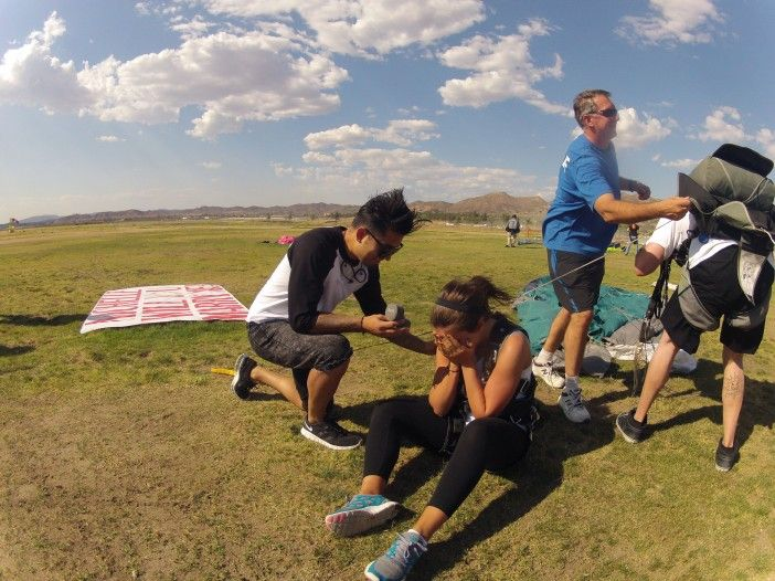 Skydiving Marriage Proposal and Adventurous Proposals   wishes