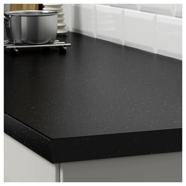Saljan Countertop Black Mineral Effect Laminate 98x1 1 2 Ikea In 2020 Laminate Countertops Black Laminate Countertops Countertops