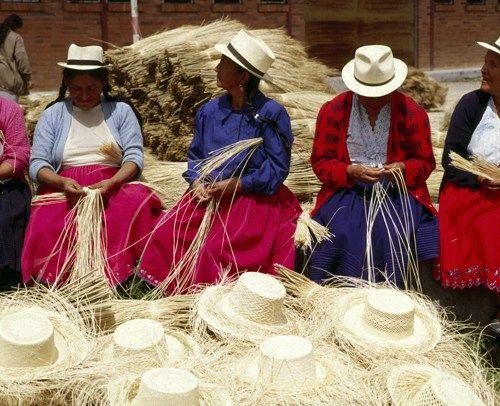 mode de luxe commander en ligne la réputation d'abord Le tissage traditionnel du chapeau de paille « Panama ...