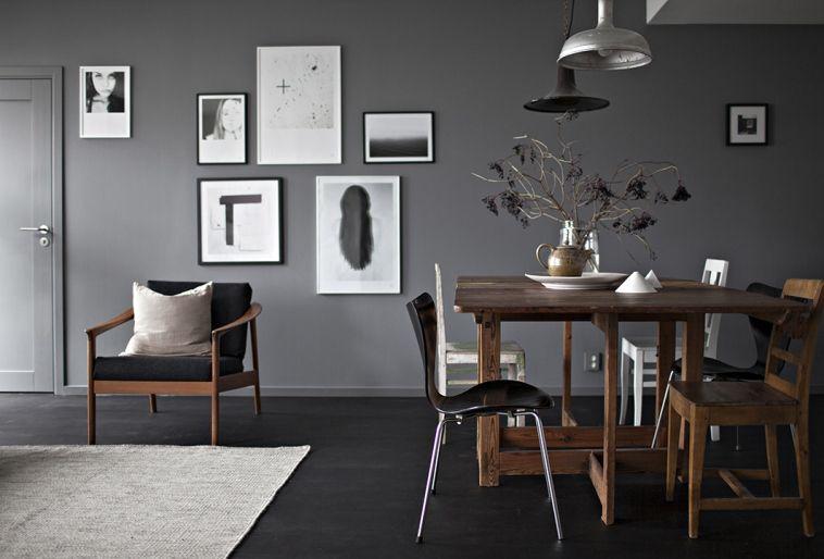 grå väggfärg inspiration