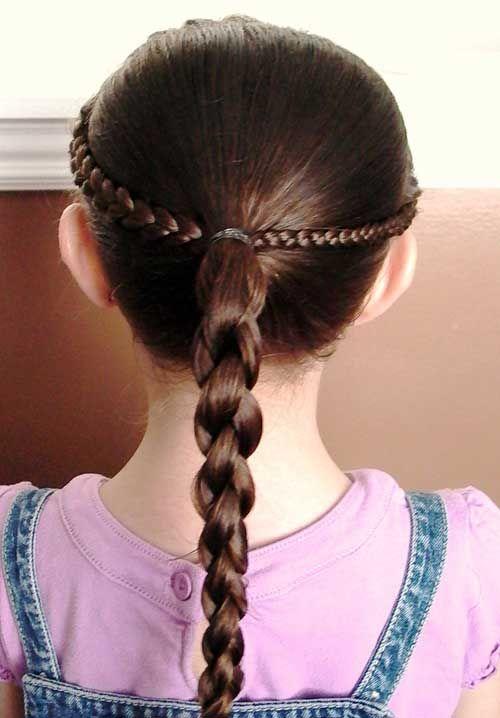 Einfache Frisuren Für Langes Haar Für Kinder Kinder Frisuren