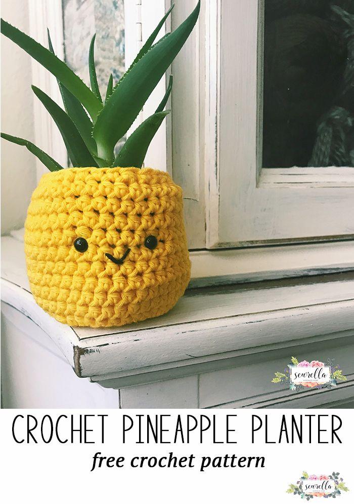 Photo of Crochet Pineapple Planter