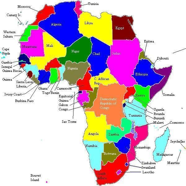 Photos Of Africa Africa Foreign Relations United States Bureau - Real map us in africa