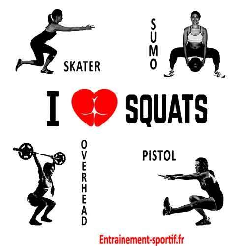 Squat exercice de musculation de base fitness et musculation pour tous exercice musculation - Entrainement piscine pour maigrir ...