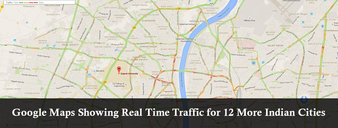 Google Maps Showing Real Time Traffic For 12 Cities In India