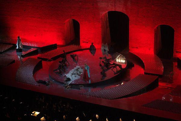 Tosca. Teatro Costanzi. Scenic design by Emanuela Pischedda.