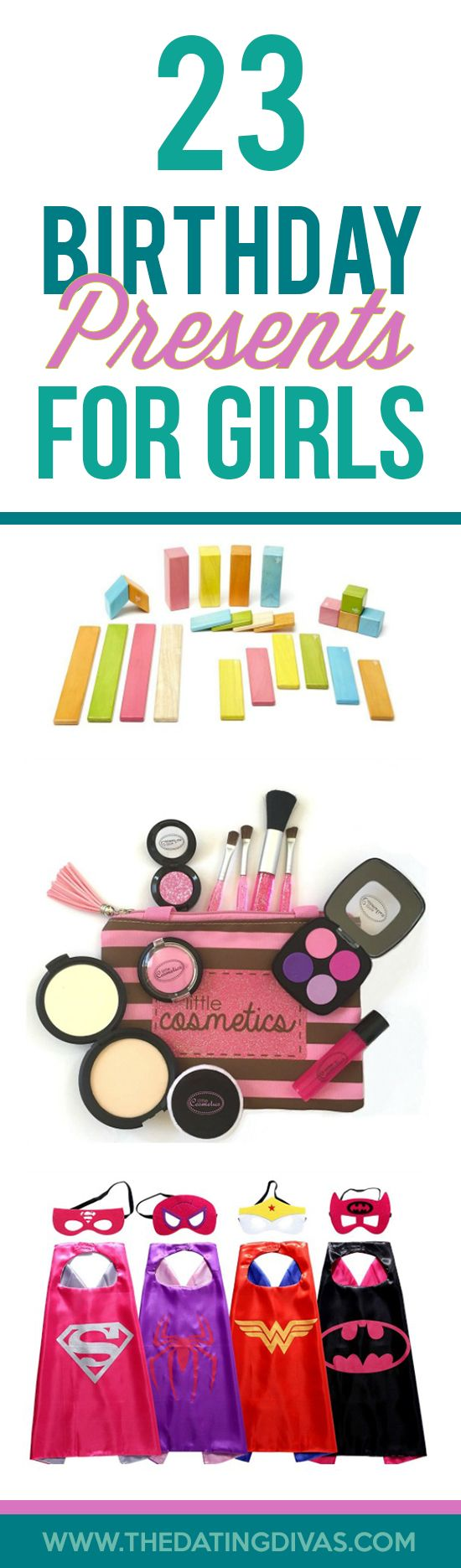 Birthday Present Ideas for Girls- so many cute ideas. Saving this list for the next birthday party!