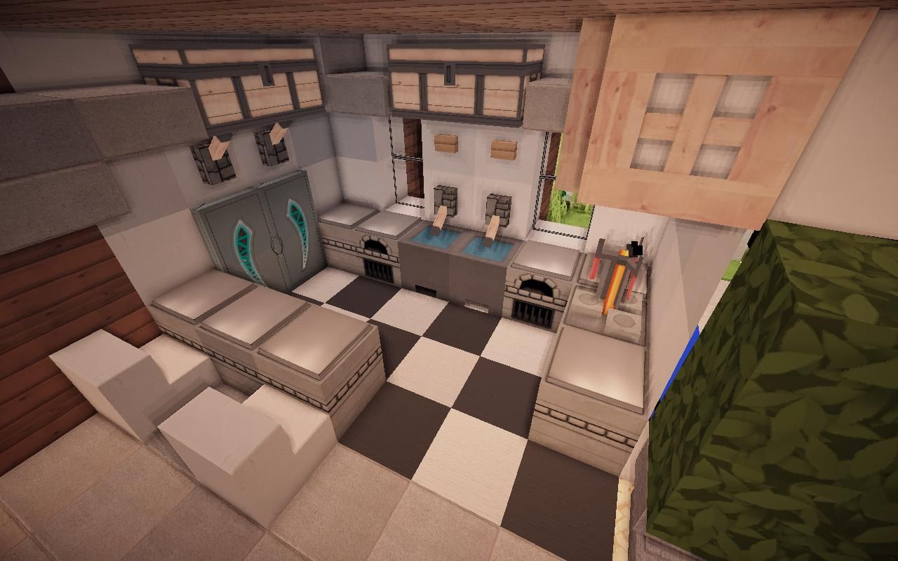 Minecraft Kitchen Ideas 04 · Modern Minecraft HousesMinecraft  DesignsMinecraft ...