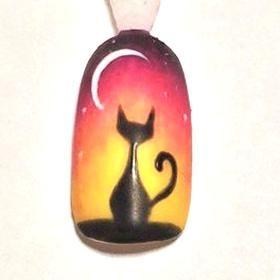Halloween Nail Art Black Cat Tutorial - Technique - NAILS ...