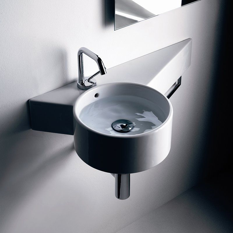 Tao Ceramic 12 Wall Mount Bathroom Sink With Overflow Bathroom Sink Wall Mounted Bathroom Sinks Sink