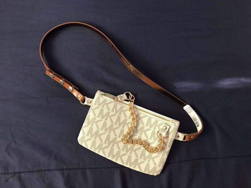 d6ad24fc967e NWT Michael Kors MK Logo Vanilla White Fanny Pack Belt Bag 554131 Size  Large/ L #fashion #clothing #shoes #accessories #womensbagshandbags ...