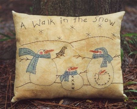A Walk In The Snow Stitchery