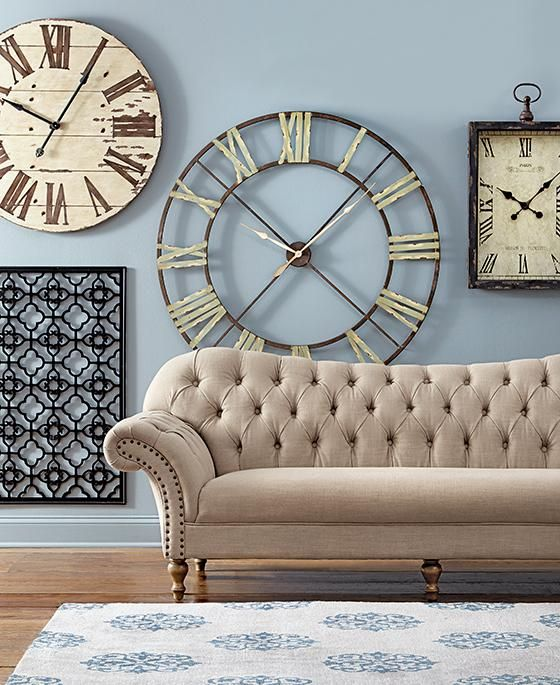 48 inch diameter 200 edward wall clock fab decor pinterest relojes de pared casas and. Black Bedroom Furniture Sets. Home Design Ideas
