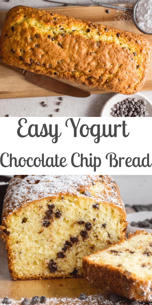 Easy Yogurt Chocolate Chip Bread