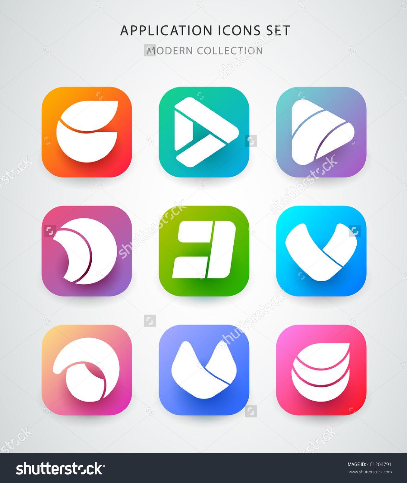 Big vector icons set for application logo icon design. App ...